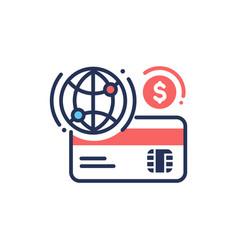 internet banking - modern line design icon vector image vector image