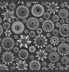 Milling cutters for metal 3d Seamless Pattern vector image vector image