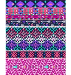 Tribal seamless aztec pattern with birds vector image vector image