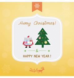 Christmas greeting card4 vector image
