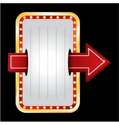 Entrance neon vector image vector image