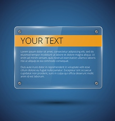 Glossy banner on blue vector image vector image