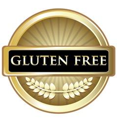 Gluten free gold label vector