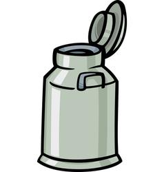 milk can or churn cartoon clip art vector image vector image