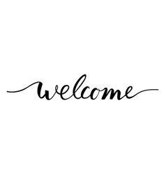 welcome lettering text vector image vector image