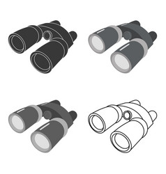 binoculars icon of for web and vector image vector image