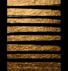 gold brush stroke in black background design vector image
