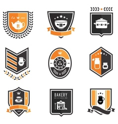 Kitchen badges vector image vector image