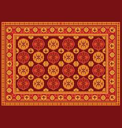 vintage persian floor carpet vector image