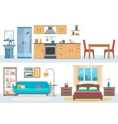 Apartment inside vector