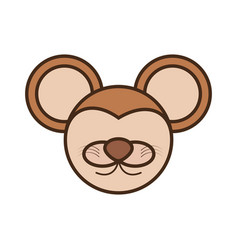 face mouse cartoon animal vector image