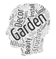 How to Spice Up Your Garden with Decor text vector image vector image