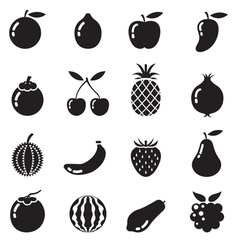 Piece of Fruits Icon BW vector image vector image