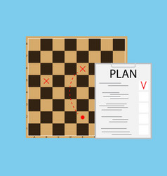 tactic plan business vector image vector image