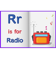 A picture of radio in book vector