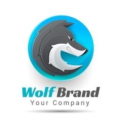 A wolf logo Creative vector