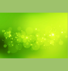 abstract background green and fresh bokeh vector image