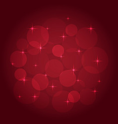 Abstract background with bokeh red vector