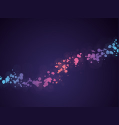 abstract dots wave background with bokeh vector image