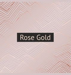 Abstract pattern with rose gold imitation for vector