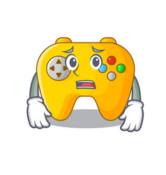 Afraid video game controller shaped on charcter vector