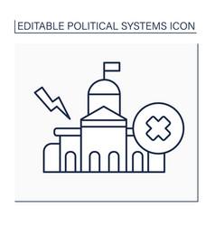 Anarchy line icon vector