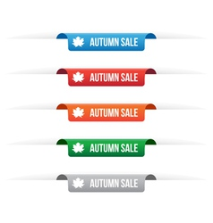 Autumn sale paper tag labels vector image