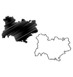 Auvergne-rhone-alpes map vector