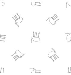 Bagpipe pattern seamless vector