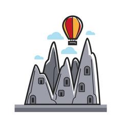 balloon in mountains vector image