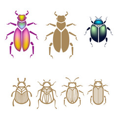 Beetle set vector