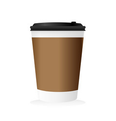 Blank paper mockup of coffee cup vector