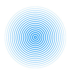 blue water rings drops isolated on white backgroun vector image