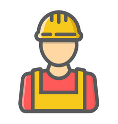 builder filled outline icon build and repair vector image