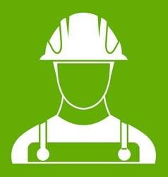 builder icon green vector image