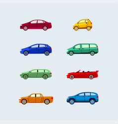 Car classification - modern flat design vector