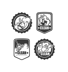 clean it badges vector image