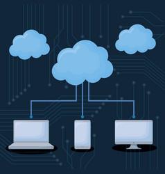 cloud storages design vector image