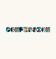 Confession concept word art vector