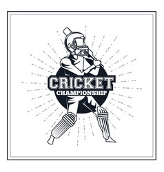 cricket player icon vector image