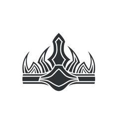 Crown in gothic style monochrome vector