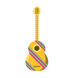 decorative guitar vector image