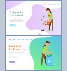 environment protection volunteering people vector image