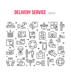 Fast delivery logistic icons big set in flat style vector