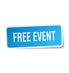 Free event square sticker on white vector