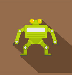 Green automatic mechanism icon flat style vector