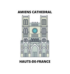 hauts-de-france - amiens cathedral line trave vector image