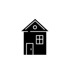 House black glyph icon vector