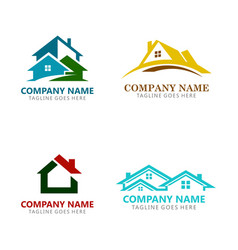 house realty logos vector image