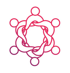human abstract figure design vector image